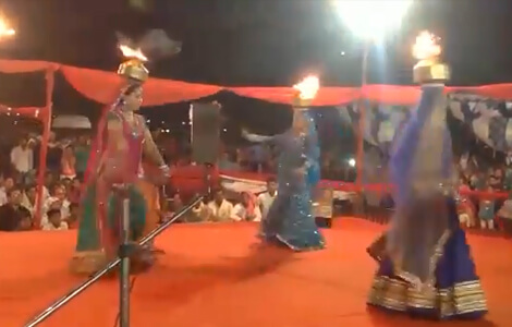 The fire dance rajasthan